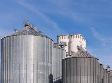 Storage tanks at a biogas plant.