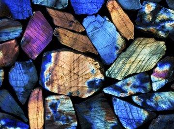 Collection of beautiful gem rocks