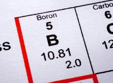 Boron is a Period Two metalloid.