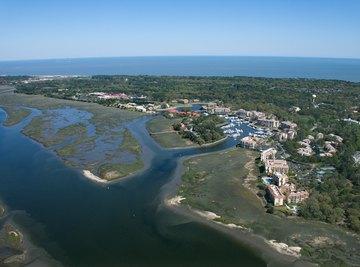 aerial view of Hilton Head Island, South Carolina