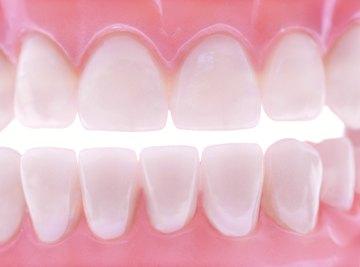 Abrasive agents in whiteners polish teeth.