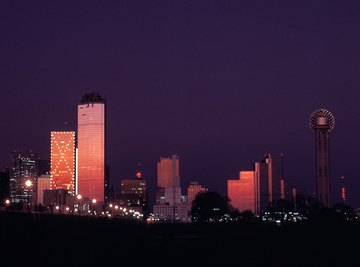 Dallas, Texas' second-largest city as of 2014, lies on the western border of the Gulf Coastal Plains.