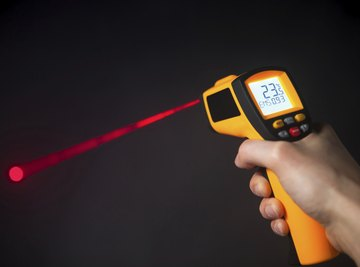 A laser thermometer.