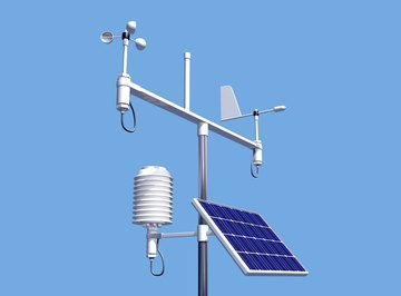 Data from a local weather station can be used to create a climatogram.