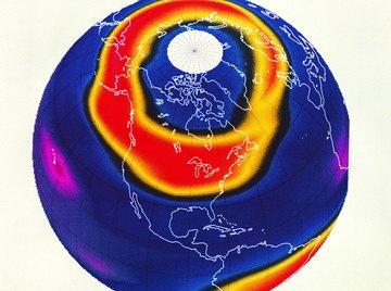 Chlorine contamination of the upper atmosphere produces polar ozone holes.