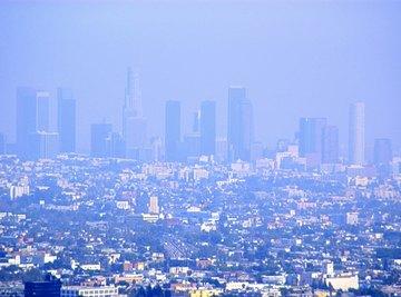 Smog causes a distinct smoky haze.