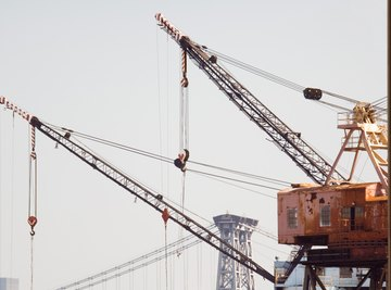 Cranes use pulley systems to lift massive objects.