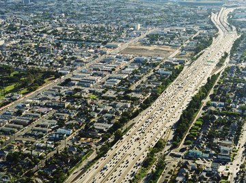 Cars, factories and homes all contribute to air pollution.