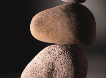 Choose rocks in pleasing shapes and sizes.