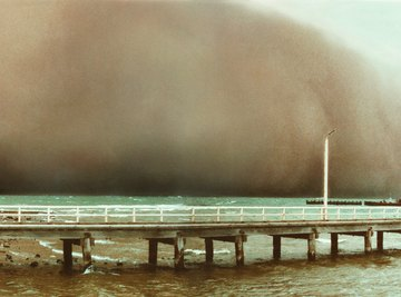 Massive dust storms are a sign that erosion is taking place.