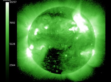 Solar flares can release vast amounts of energy.