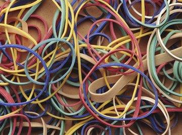 An assortment of elastic bands.