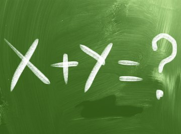 Variables are letters that symbolize unknown quantities.