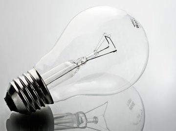 An incandescent light bulb.