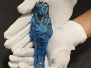 Egyptian faience simulated the blue-green hue of turquoise.