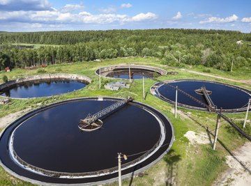 The EPA sets standards for waste water treatment plants.