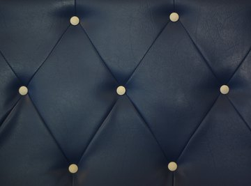 Clos-up of tufted fabric with a parallelogram design.