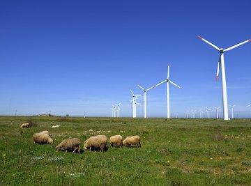Wind turbines convert wind energy into mechanical energy.