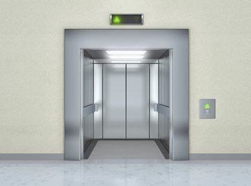 Elevators use pulley systems to transport people and freight vertically.