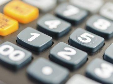 Close-up of calculator keyboard