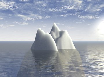 Icebergs support many large animals, such as polar bears and seals.
