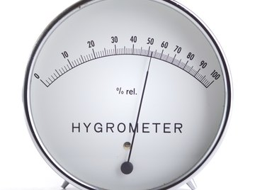 A hygrometer measures the moisture content of the atmosphere.