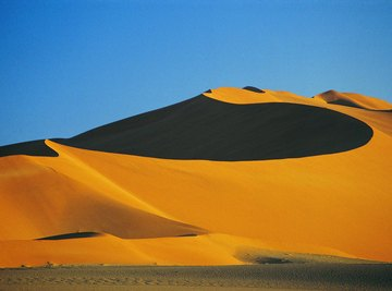 Africa's coastal Namib Desert has extensive areas of sand dunes.