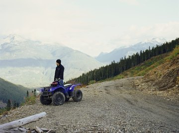 ATV on side of dirt road