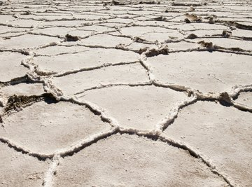 Salt deposits remain when oceans evaporate.