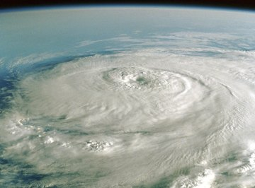 A tropical cyclone goes through a series of developmental stages.