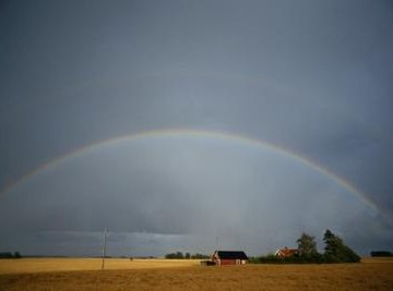 A rainbow is an arc of light we see after a sun shower.