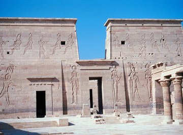 Monumental stone architecture was reserved only for Egyptian royalty.