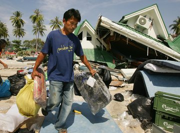 The tsunami that struck Thailand in 2004 was caused by an earthquake beneath a nearby oceanic trench.