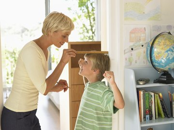 A child's height percentile against his peers tells him what percentage of children he is taller than.