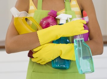 Some household cleaning supplies contain substances that pollute the environment.
