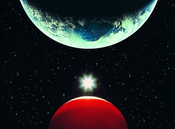 Mars can be seen with the naked eye from Earth, several times each year.