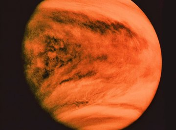 Venus has frequent sulfuric acid rainstorms.