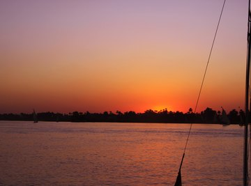 The Nile vies with the Amazon for the title of world's longest river.