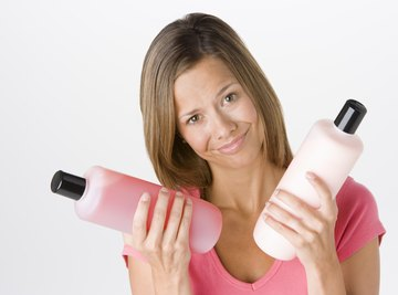 Bottles for personal care products are made of recycled polyethylene.