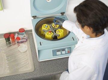 A centrifuge separates substances according to density.