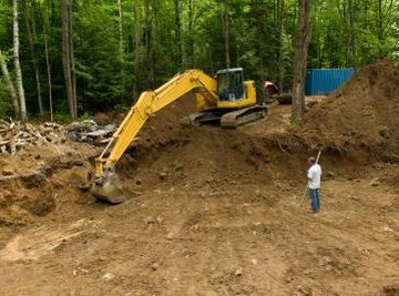 Excavating equipment is often used for surface mining.