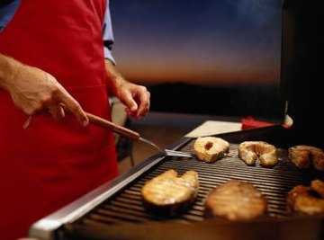 Propane barbecue grills deliver carefully regulated, even heat.