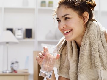 Use a glass of water to rinse your teeth after brushing.