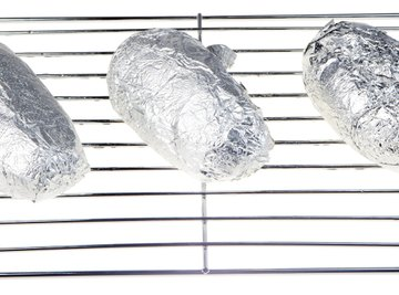Aluminum foil maintains its strength at baking and broiling temperatures.