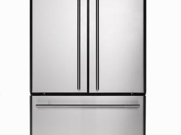 Stainless steel is commonly used for appliances, such as refridgerators.