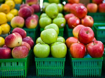 An apple is an example of matter in a solid state.
