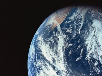 A view of Earth from a satellite.