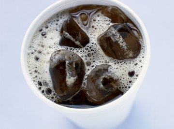 Carbonated beverages fizz with gaseous carbon dioxide.