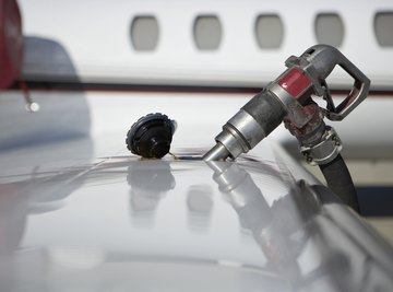 Fueling a jet.