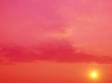 Air pressure can change the color of the sky and give you a clue about upcoming weather.
